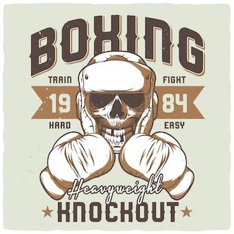 Illustratie van de dode bokser.