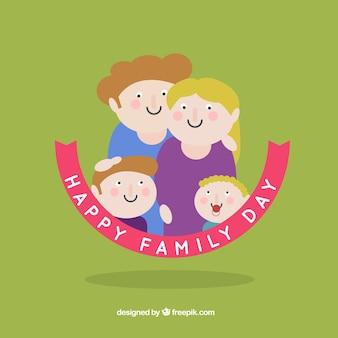 Illustratie van de familie dag