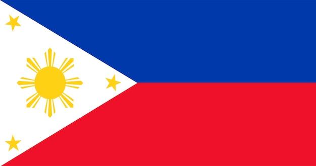 Illustratie van de filippijnen vlag