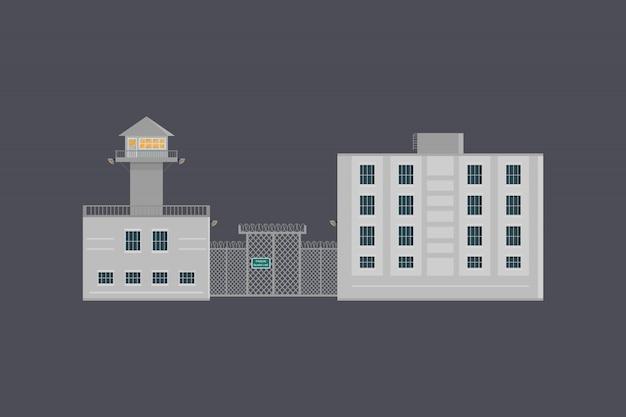 Illustratie van de gevangenis