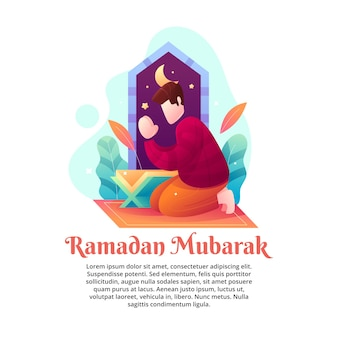 Illustratie van de gezegende maand ramadan