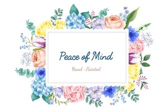 Illustratie van de hand geschilderde bloemen geïsoleerd op een witte achtergrond