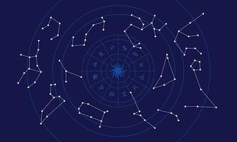 Illustratie van de horoscoop