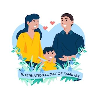 Illustratie van de internationale dag van gezinnen
