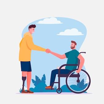 Illustratie van de internationale dag van mensen met een handicap