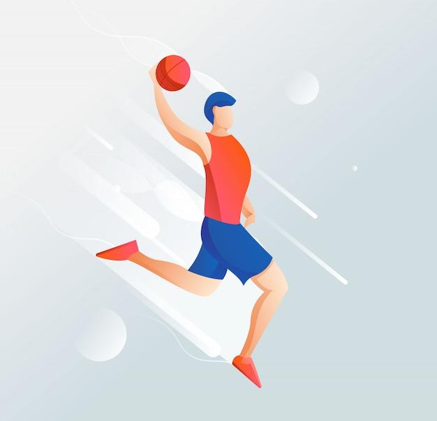 Illustratie van de lijst van de basketbalspeler met een schoon, elegant ontwerp