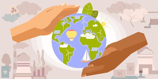 Illustratie van de milieubescherming
