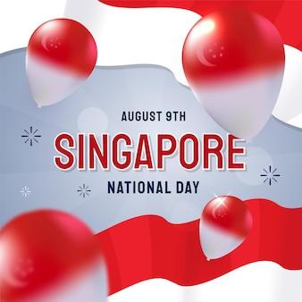 Illustratie van de nationale dag van de kleurovergang van singapore