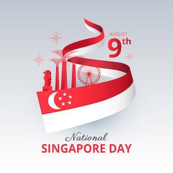 Illustratie van de nationale feestdag van singapore sing