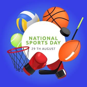 Illustratie van de nationale sportdag met kleurovergang