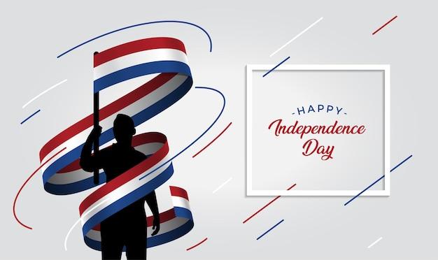 Illustratie van de onafhankelijkheidsdag van nederland