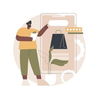 Illustratie van de ontwikkeling van e-commerce