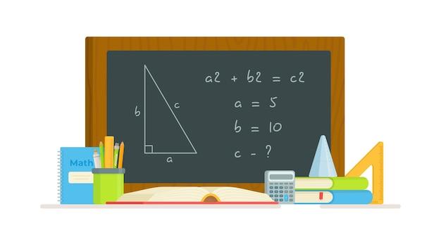 Illustratie van de oplossing van een probleem in blackboard