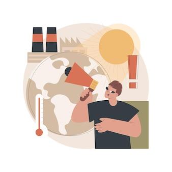 Illustratie van de opwarming van de aarde