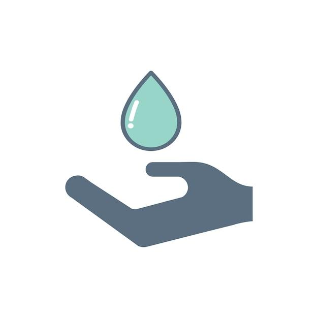 Illustratie van de pictogrammen van de bloeddonatieondersteuning