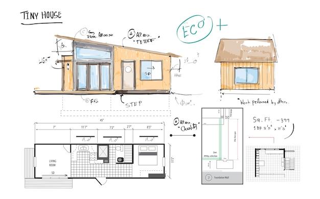 Illustratie van de planning van het huis