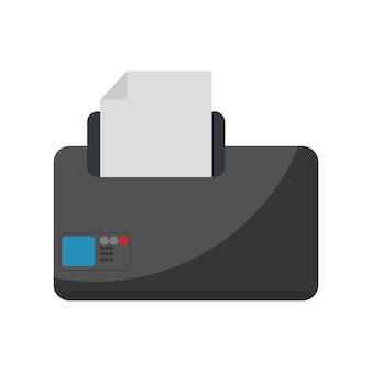 Illustratie van de printer
