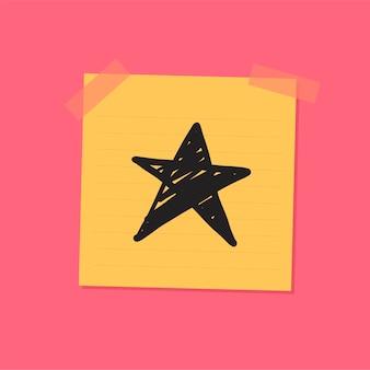 Illustratie van de schets de kleverige nota van de ster