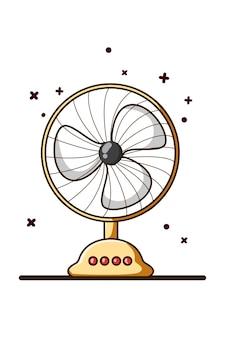 Illustratie van de tekening van de ventilatorhand