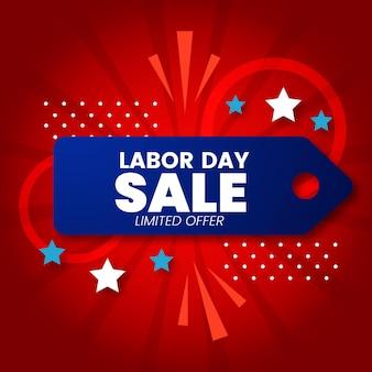 Illustratie van de verkoop van de dag van de arbeid met kleurovergang