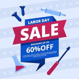 Illustratie van de verkoop van de dag van de arbeid
