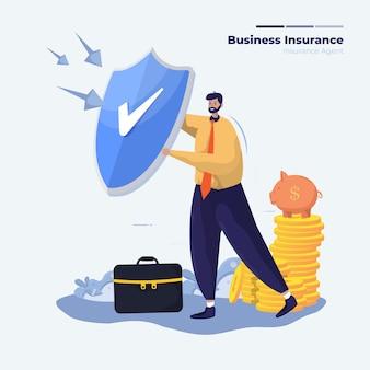 Illustratie van de verzekering van de investeringsbescherming