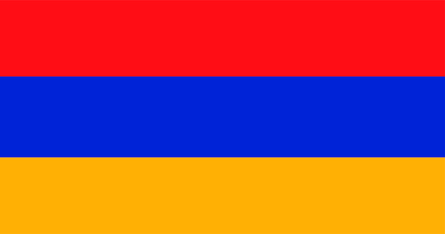Illustratie van de vlag van armenië