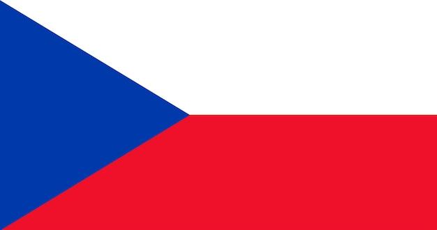 Illustratie van de vlag van de tsjechische republiek