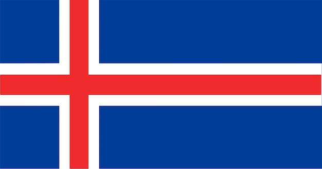 Illustratie van de vlag van ijsland