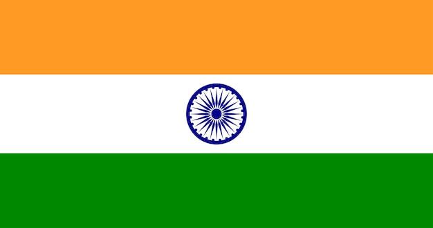 Illustratie van de vlag van india