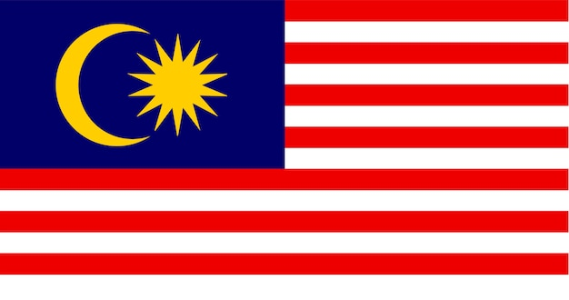 Illustratie van de vlag van maleisië