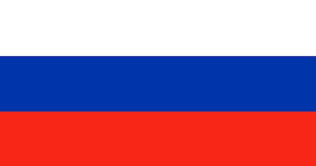 Illustratie van de vlag van rusland