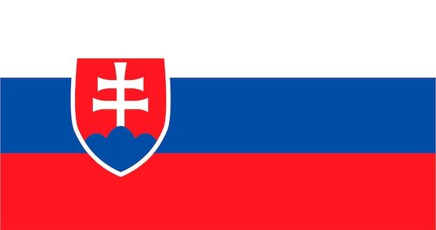Illustratie van de vlag van slowakije