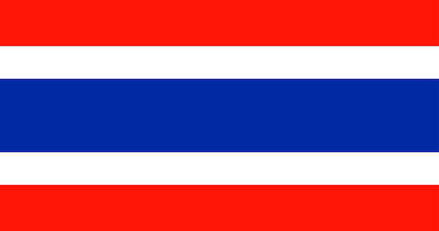 Illustratie van de vlag van thailand