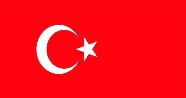 Illustratie van de vlag van turkije