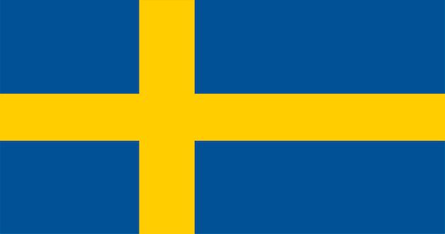 Illustratie van de vlag van zweden