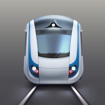 Illustratie van de voorwagen van een elektrische trein of metro