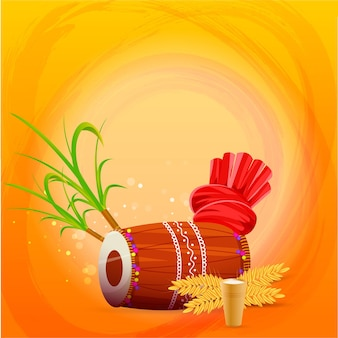 Illustratie van dhol-instrument
