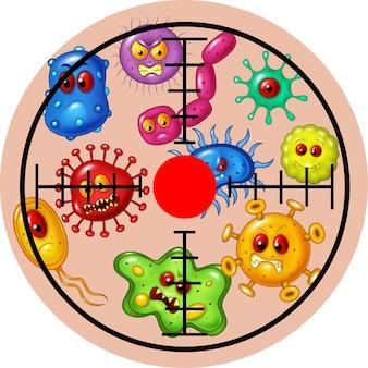 Illustratie van doelvirus