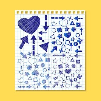 Illustratie van doodles pen getrokken