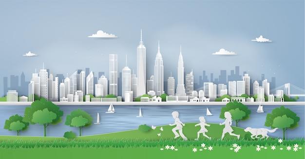 Illustratie van eco en milieu
