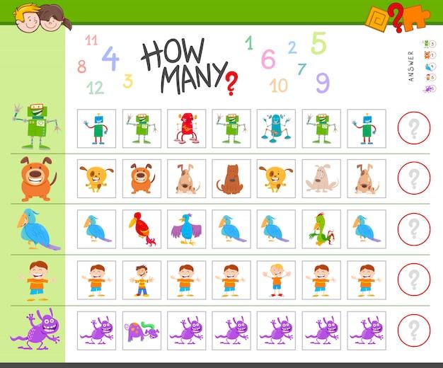 Illustratie van educational counting task for children