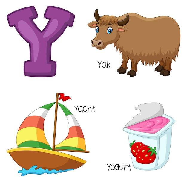 Illustratie van een alfabet
