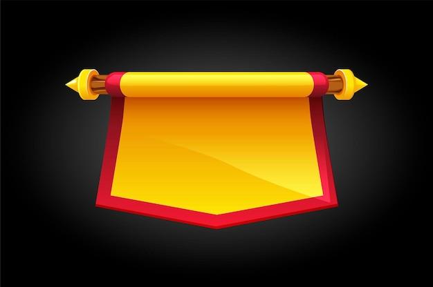 Illustratie van een cartoon-vlag voor het spel.