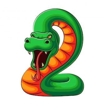 Illustratie van een cobra slang