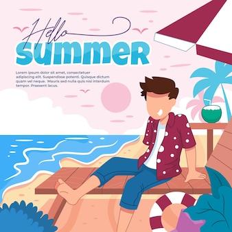 Illustratie van een gastvrije zomer met leuke activiteiten