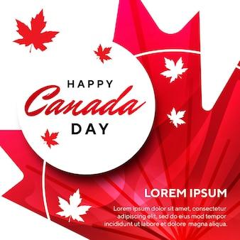 Illustratie van een gelukkige dag in canada met esdoornblad