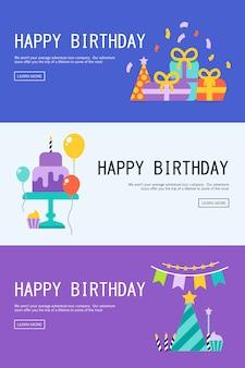 Illustratie van een gelukkige verjaardag wenskaart