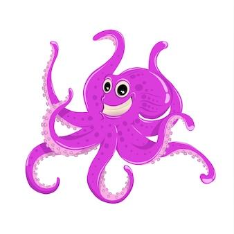 Illustratie van een gigantische octopus met tentakels