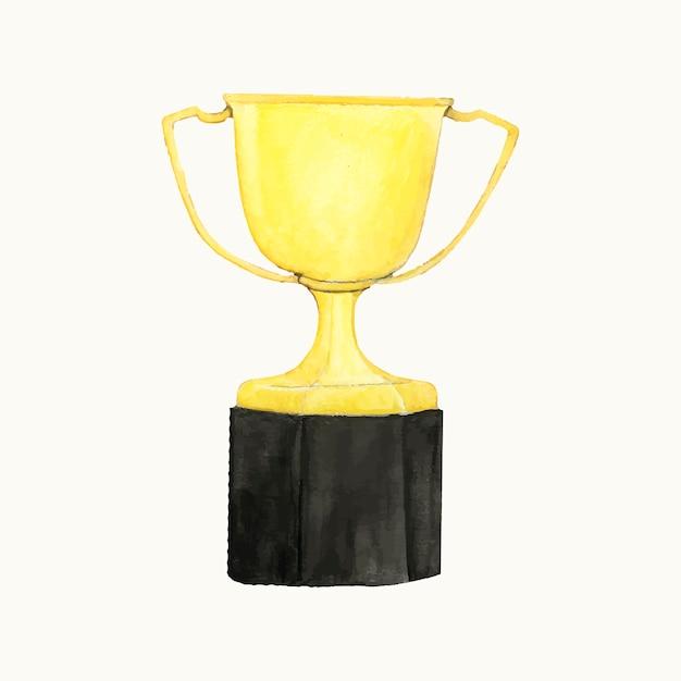 Illustratie van een gouden trofee